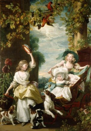 1785 John Singleton Copley The Three Youngest Daughters of King George III, Buckingham Palace