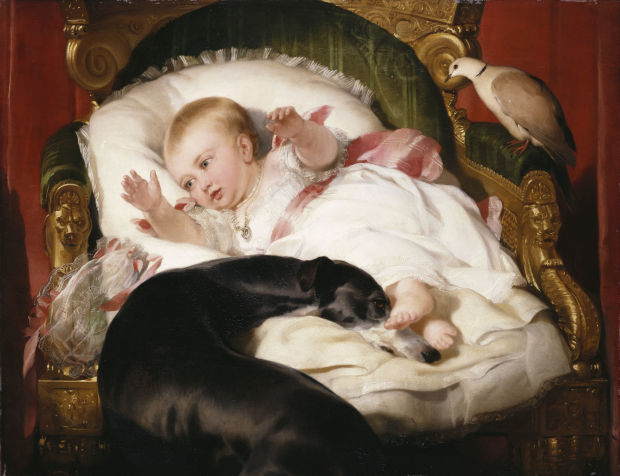 1841 Edwin Henry Landseer victoria-princess-royal-with-eos