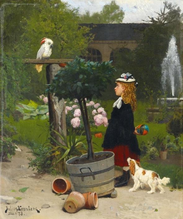 1873 Julius Kronberg Le nouveau camarade de jeu