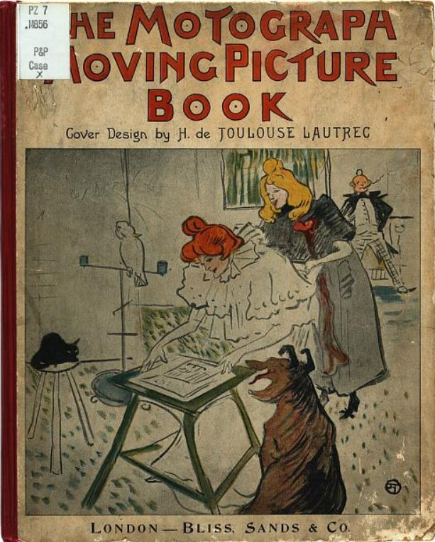 1898 Henri De Toulouse Lautrec, front cover of The Motograph Moving Picture Book 1898 book library of congress