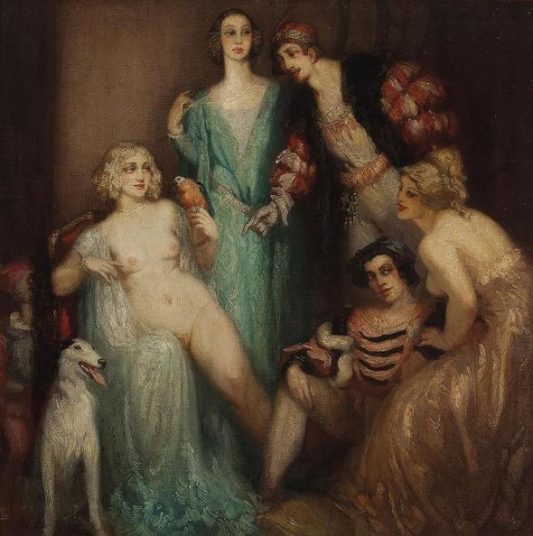 1920 ca Norman Alfred Williams Lindsay  At the Court of Marguerite of Navarre