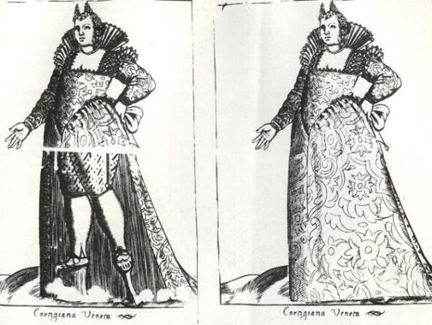 Cortigiana Veneza Pierto Bertelli. Diversarum Nationum Habitus , 1591