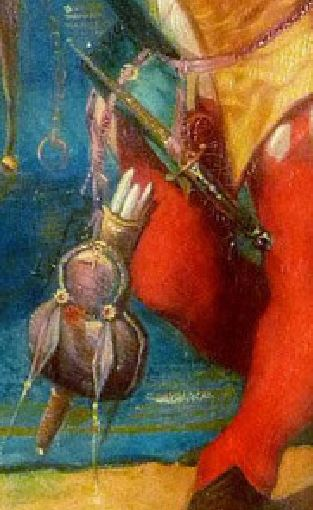 F Eugene François Deveria Le fou du Roi au perroquet aquarelle sur papier Academia Fine Art, Monaco bourse