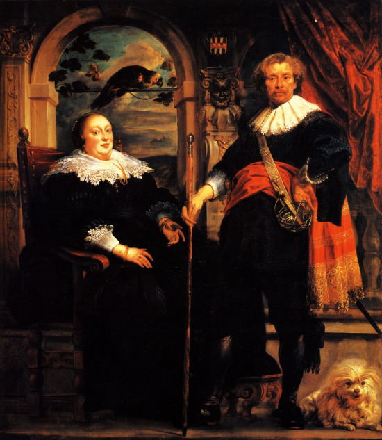 M 1636-38 Jacob Jordaens Portrait of Govaert van Surpele and his Wife, The National Gallery, London