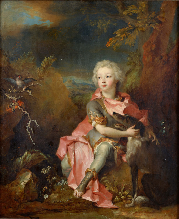 OC_1714 Nicholas de Largilliere (French artist, 1656-1746) Portrait of Young Nobleman Louis, Dauphin of France 1707-1712