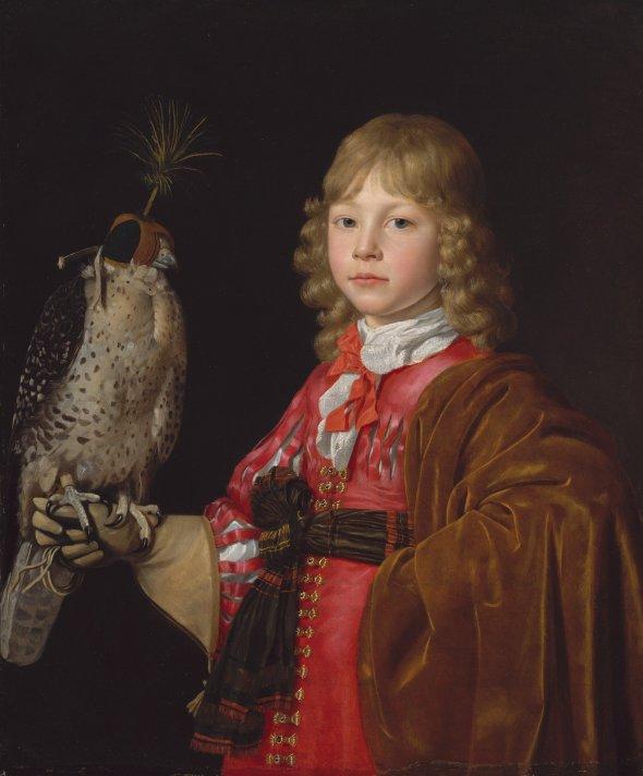 Wallerant-Vaillant-Portrait-dun-jeune-garcon-avec-un-faucon MET
