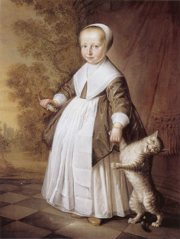 XX_1647 Jacob Gerritsz Cuyp Four-Year-Old Girl with Cat and Fish coll privee