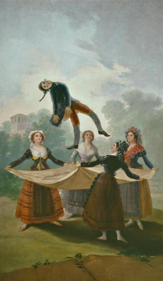 1792 Goya El pelele  Prado carton tapisserie