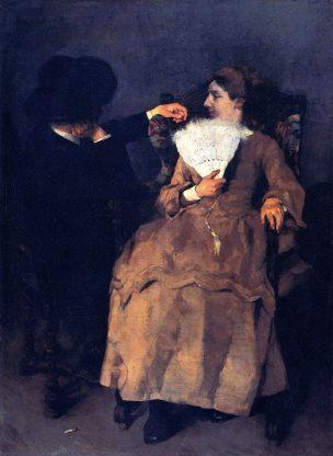 1872 Wilhelm-Trubner-In-the-Studio-Bayerische-Staatsgemaldesammlungen