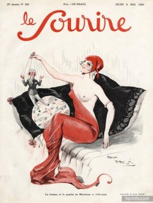 1924-jack-abeille--la-femme-et-le-pantin-marianne-le-sourire-cover-hprints-com