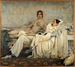 AA 1914 Pierrot malade fderico beltran masses