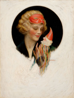 Charles Gates Sheldon Lady with Puppet, The Saturday Evening Post cover, October 31 , 1925