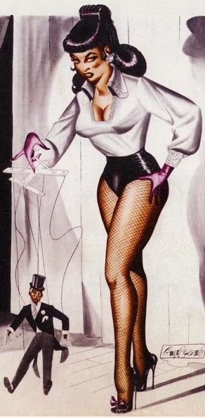 Femme et marionnette
