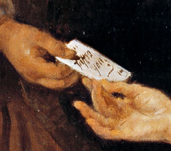 Metsu-Diptyque_1658_Femme lisant detail