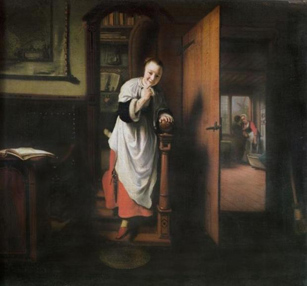 Eavesdropper on Two Lovers Nicolaes Maes, 1656-57, Apsley House