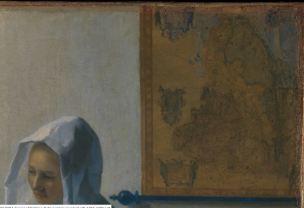 Vermeer Carte Femme a sa fenetre