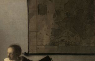 Vermeer Carte Femme au luth