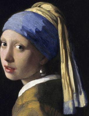 Vermeer Echarpe jeune fille perle