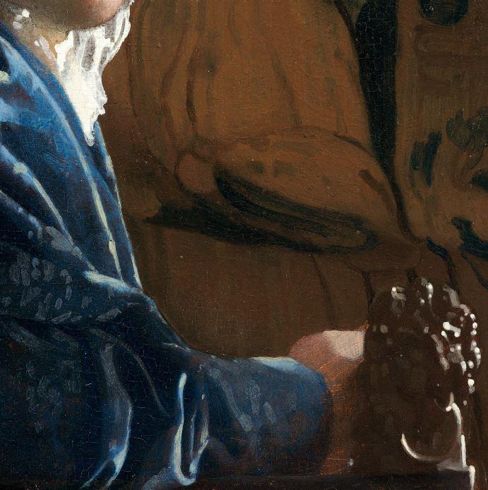 Vermeer Johannes La jeune fille a la toque rouge detail