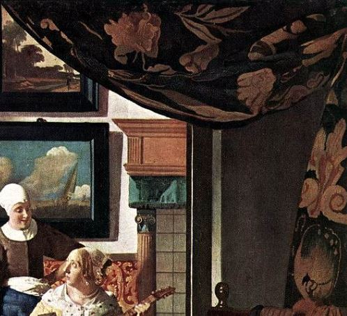 Vermeer Johannes The_Loveletter _rideau