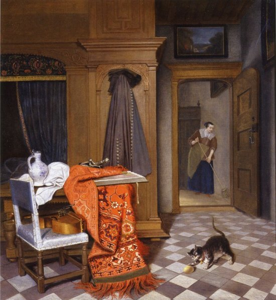 cornelis_de_man_woman_sweeping