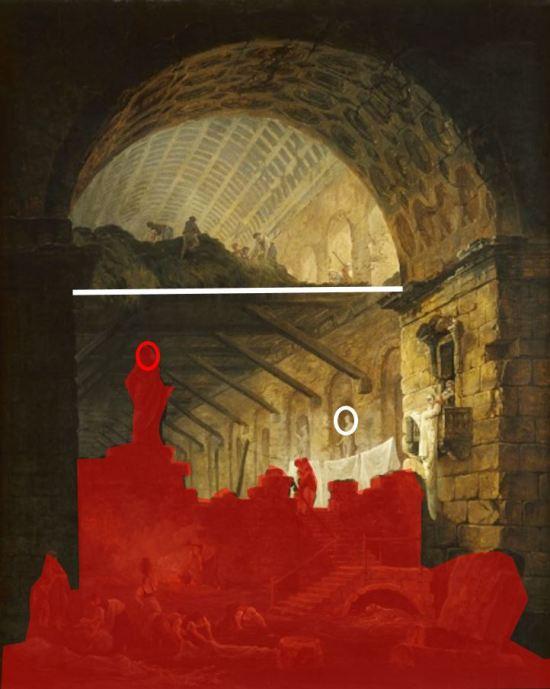 hubert-robert-1798-galerie-en-ruines-musee-des-beaux-arts-de-dijon-composition