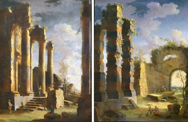 coccorante_-_capriccio_with_ancient_ruins_and_figure_dawn_1