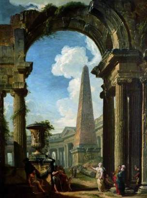 Panini-1719-Ruins-of-a-Temple-with-a-Sibyl-