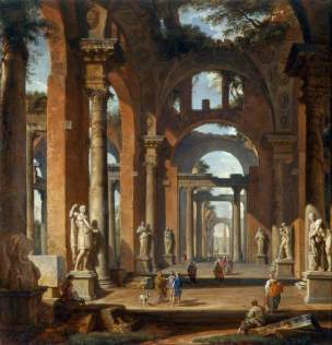 panini-1725-1750-ca-statues-in-a-ruined-arcade-marble-hill-house-london