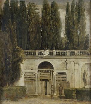 velasquez-1630-vue-du-jardin-de-la-villa-medicis-de-rome_lentree-de-la-grotte-prado