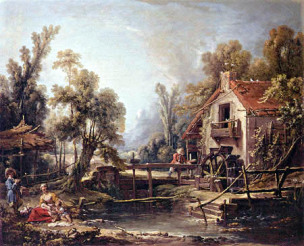 boucher-1750-le_moulin_a_eau