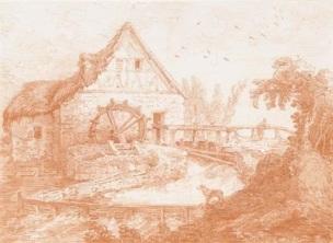 hubert-robert-un-moulin-a-eau-un-homme-sur-un-pont-un-chien-au-premier-plan-coll-part