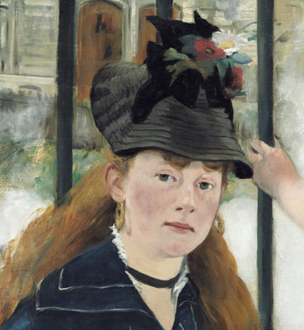 Edouard_Manet_-_Le_Chemin_de_fer_National Gallery of Arts Washington 1872 detail