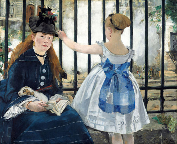 Edouard_Manet_-_Le_Chemin_de_fer_National Gallery of Arts Washington 1872
