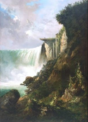 Horseshoe Falls from below the High Bank Gustav Grunewald, vers 1832, De Young Museum
