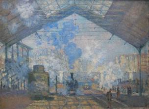 Monet La_Gare_Saint-Lazare_Ligne d'Auteuil 1877 Orsay