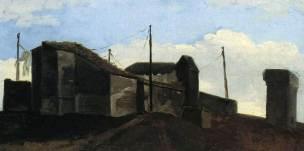 Pierre-Henri de valenciennes 1782-1784 Loggia a Rome, le toit a l'ombre Louvre