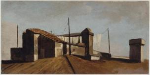 Pierre-Henri de valenciennes 1782-1784 Loggia a Rome, le toit au soleil Louvre
