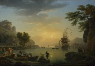 Vernet 1773 A Landscape at Sunset National Gallery Londres