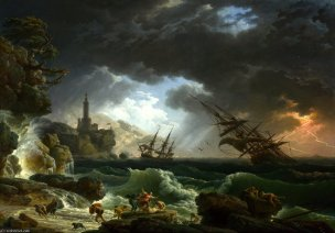 Vernet 1773 A Shipwreck in Stormy Seas National Gallery Londres