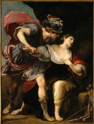 A Renaud et Armide Alessandro Tiarini 1610-15 Lille, Musee des Beaux-Arts,