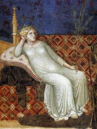 Ambrogio Lorenzetti Fresque des Effets du Bon Gouvernenement Sienne La Paix detail