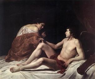 Amour et Psyche Gentilesch 1628-30 Ermitage Saint Pertersbourg