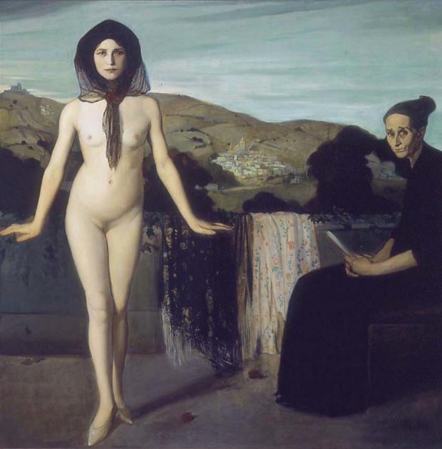 Angel Zarraga- The Nude Dancer La bailarina desnuda 1907-09 Coleccion Andros Blaisten Mexico