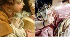 Boucher (d apres) couple-d-amoureux Louvre detail mains