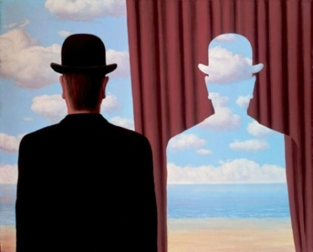 Decalcomanie Magritte 1966