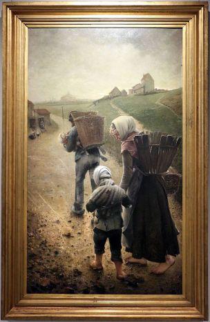 FREDERIC Leon Les marchands de craie 1882-83 soir