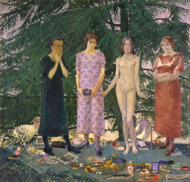 Felice Casorati le-signorine 1912 Venezia, Galleria d Arte Moderna