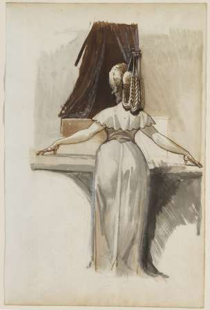 Fussli A Woman Standing at a Dressing Table or Spinet, c. 1790-1792 National Gallery Ottawa