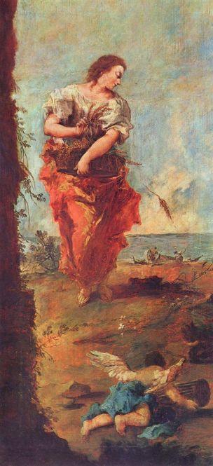Guardi Allegorie de l Abondance 1747 Ringling Museum of art